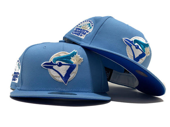 TORONTO BLUE JAYS 1991 ALL STAR GAME SKY BLUE ROYAL BRIM NEW ERA FITTED HAT