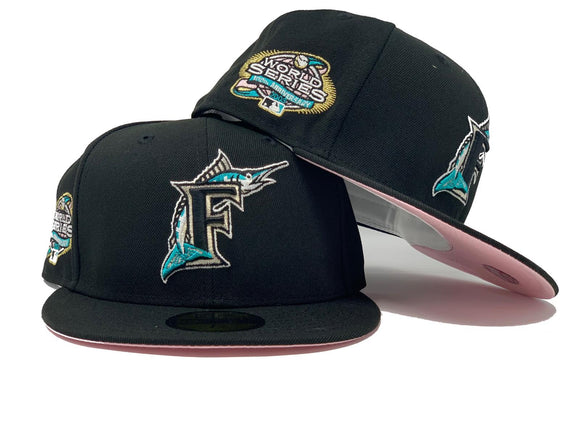 FLORIDA MARLIN 2003 WORLD SERIES BLACK PINK BRIM NEW ERA FITTED HAT