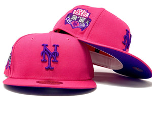 NEW YORK METS SHEA STADIUM FINAL SEASON FUSION PINK PURPLE BRIM NEW  ERA FITTED HAT