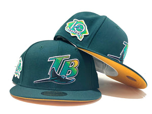 TAMPA BAY 10TH SEASON GREEN YELLOW BRIM NEW ERA FITTED HAT