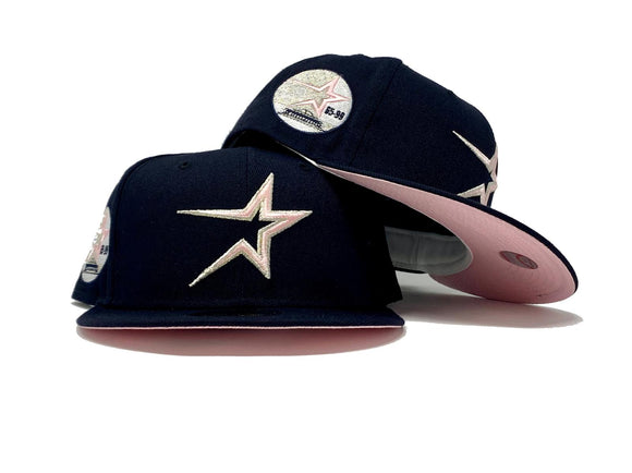HOUSTON ASTROS 35TH ANNIVERSARY NAVY PINK BRIM NEW ERA FITTED HAT
