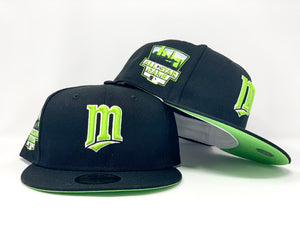 MINNESOTA TWINS 2014 ALL STAR GAME BLACK LIME GREEN BRIM NEW ERA FITTED HAT