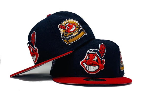 CLEVELAND INDIANS 1954 ALL STAR GAME AMERICAN LEAGUE GRAY BRIM NEW ERA FITTED HAT