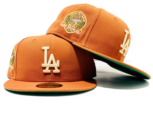 LOS ANGELES DODGERS 60TH SEASON RUST GREEN BRIM NEW ERA FITTED HAT