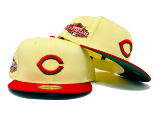 CINCINNATI REDS 2015 ALL STAR GAME SOFT YELLOW GREEN BRIM NEW ERA FITTED HAT