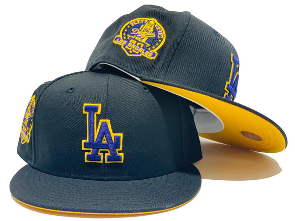 LOS ANGELES DODGERS 60TH SEASON YELLOW BRIM NEW ERA FITTED HAT