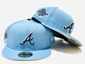 OFFSET * NEW ERA * ATLANTA BRAVES SKY BLUE FITTED HAT
