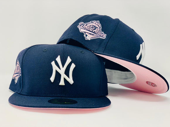 NEW YORK YANKEES 1996 WORLD SERIES NAVY PINK BRIM NEW ERA FITTED HAT