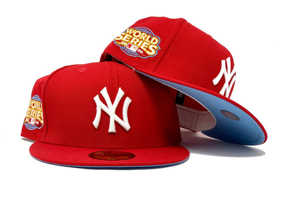 NEW YORK YANKEES 2009 WORLD SERIES RED ICY BRIM NEW ERA FITTED HAT