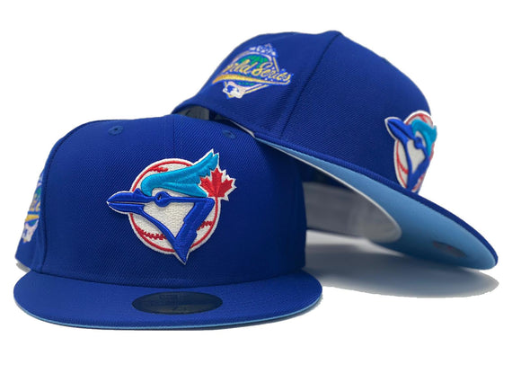 TORONTO BLUE JAYS 1992 WORLD SERIES ROYAL ICY BRIM NEW ERA FITTED HAT
