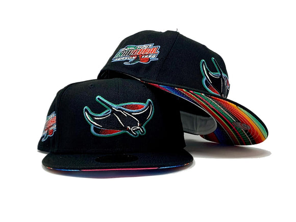 TAMPA BAY INAUGURA SEASON BLACK SERAPE BRIM NEW ERA FITTED HAT