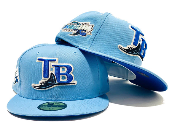 TAMPA BAY 1998 INAUGURAL SEASON SKY BLUE ROYAL BRIM NEW ERA FITTED HAT