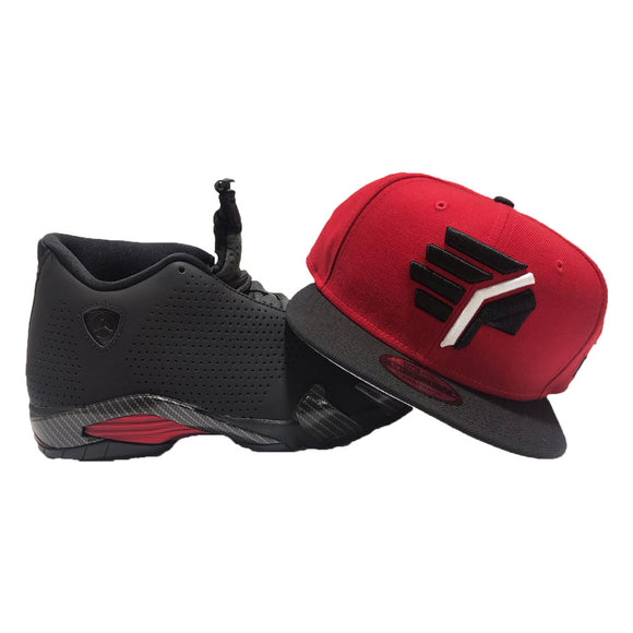 AIR JORDAN 14 RETRO BLACK FERRARI MATCHING CHIEFS NEW ERA SNAPBACK