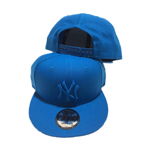 AQUA BLUE TONAL NEW YORK YANKEES NEW ERA SNAPBACK HAT