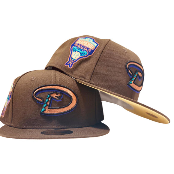 ARIZONA DIAMONDBACKS 1998 INAUGURAL SEASON BROWN BANANA PUDDING NEW ERA FITTED HAT