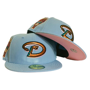 ARIZONA DIAMONDBACKS 1998 INAUGURAL SEASON COTTON CANDY PINK BRIM NEW ERA FITTED HAT