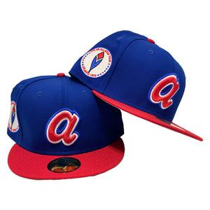 Atlanta Brave 1972 All Star Red / Royal New Era 59Fifty Fitted Cap