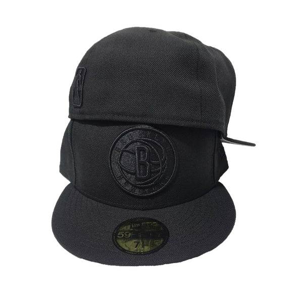 Brooklyn Nets All Blackout New Era 59Fifty Fitted cap