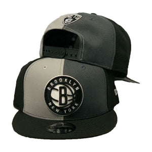 Brooklyn Nets Black Gray Graphite New Era Snapback