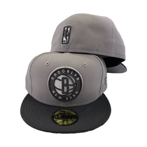 Brooklyn Nets gray/ Graphite New Era Fitted Hat