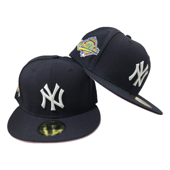 Exclusive New York Yankees New Era 59Fifty 1996 World Series Pink Bottom Fitted Hat