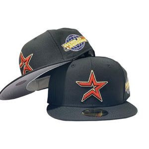 HOUSTON ASTRO 2005 WORLD SERIES BLACK GRAY BRIM NEW ERA FITTED HAT