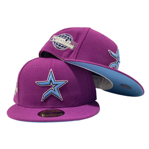 HOUSTON ASTRO 2005 WORLD SERIES GRAPE ICY BRIM NEW ERA FITTED HAT