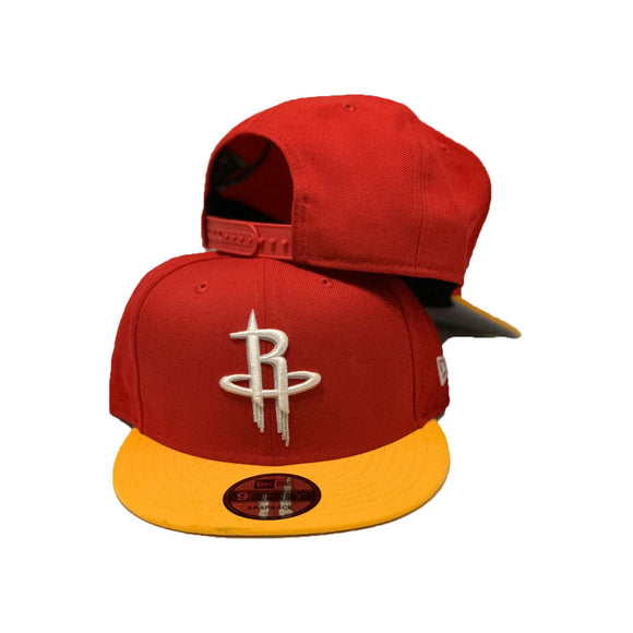 Houston Rockets Red Yellow New Era Snapback Hat