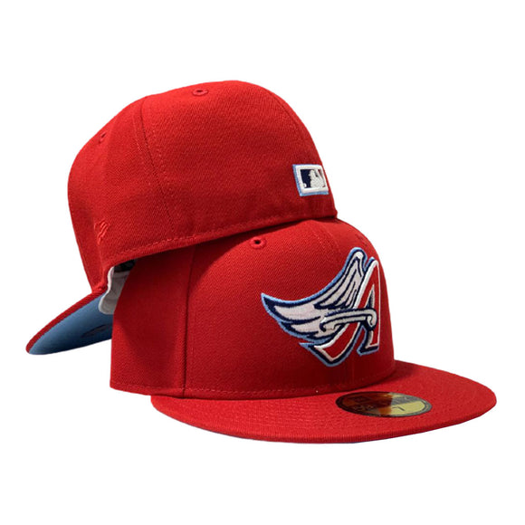 LOS ANGEL ANGELS RED ICY BRIM NEW ERA FITTED HAT