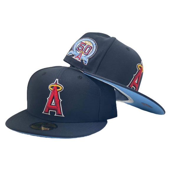 LOS ANGELES ANGELS 50TH SEASON NAVY NEW ERA ICY BRIM NEW ERA FITTED