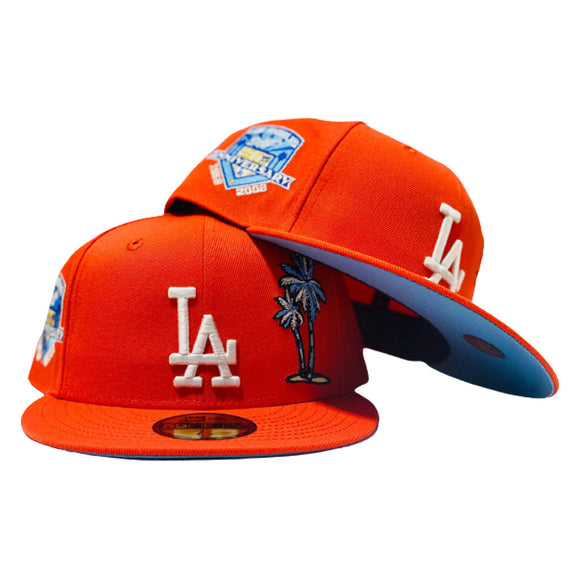 LOS ANGELES DODGERS 60TH ANNIVERSARY ORANGE ICY BRIM NEW ERA FITTED HAT
