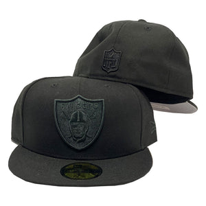 Las Vegas Raiders All Black New Era 59Fifty Fitted Cap