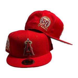 Los Angeles Angels 50th Anniversary Red New Era Fitted Hat