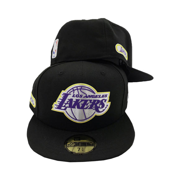 Los Angeles Lakers Black New Era Fitted hat