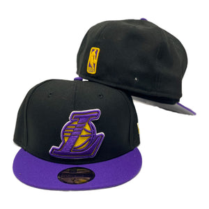 Los Angeles Lakers Black Purple New Era 59Fifty Fitted Cap