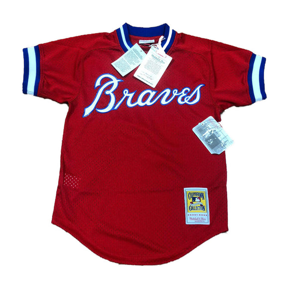 MITCHELL AND NESS ATLANTA BRAVES DALE MURPHY 1980 AUTHENTIC BATTING PRACTICE JERSEY