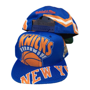 MITCHELL AND NESS BIG FACE NEW YORK KNICKS SNAPBACK HAT