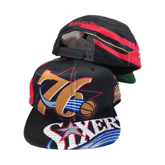 MITCHELL AND NESS BIG FACE PHILADELPHIA 76ERS SNAPBACK HAT