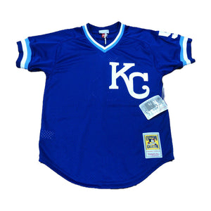 MITCHELL AND NESS KANSAS CITY ROYALS 1989 GEORGE BRETT AUTHENTIC BATTING PRACTICE JERSEY