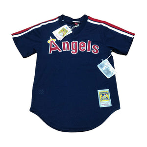 MITCHELL AND NESS LOS ANEGELES ANGELS 1984 ROD CAREW AUTHENTIC BATTING PRACTICE JERSEY