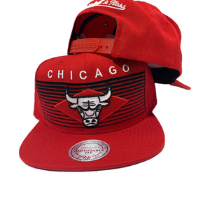 MITCHELL AND NESS NBA CONCORD RED CHICAGO BULLS SNAPBACK
