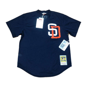 MITCHELL AND NESS SAN DIEGO PADRES TONY GWYNN NAVY AUTHENTIC BATTING PRACTICE JERSEY