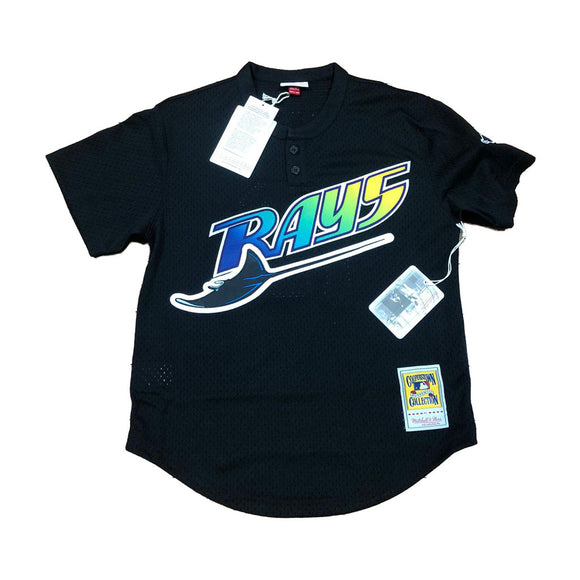 MITCHELL AND NESS TAMPA BAYS 1998 WADE BAGGS AUTHENTIC BATTING PRACTICE JERSEY