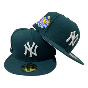 NEW YORK YANKEE ALL GREEN 1999 WORLD SERIES NEW ERA FITTED HAT