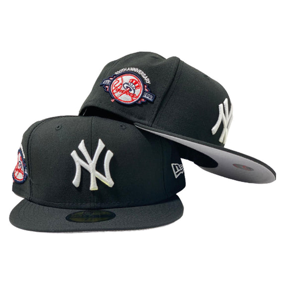 NEW YORK YANKEES 100TH ANNIVERSARY BLACK NEW ERA FITTED HAT