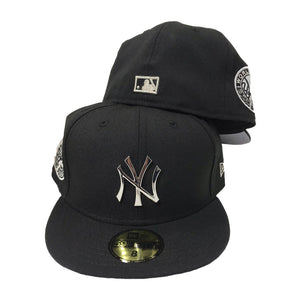 NEW YORK YANKEES 1949 WORLD SERIES SILVER METAL LOGO NEW ERA 59FIFTY FITTED HAT
