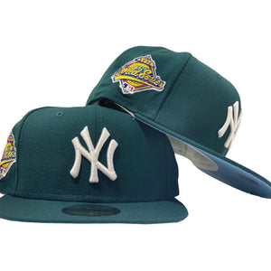 NEW YORK YANKEES 1996 WORLD SERIES GREEN ICY BRIM NEW ERA FITTED HAT