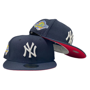 NEW YORK YANKEES 1996 WORLD SERIES NAVY RED BRIM NEW ERA FITTED HAT