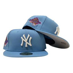 NEW YORK YANKEES 1996 WORLD SERIES SKY BLUE NEW ERA FITTED HAT