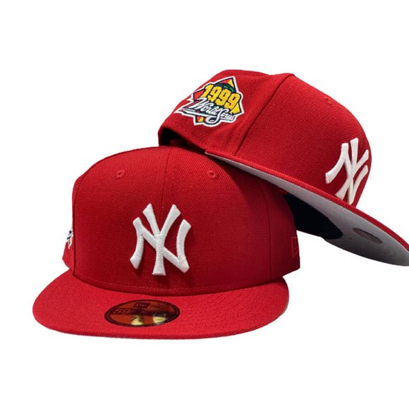 NEW YORK YANKEES 1999 WORLD SERIES RED NEW ERA FITTED
